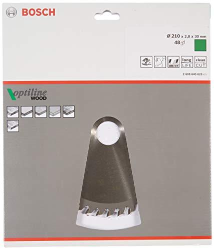 Bosch 2 608 640 623 - Hoja de sierra circular Optiline Wood - 210 x 30 x 2,8 mm, 48 (pack de 1)