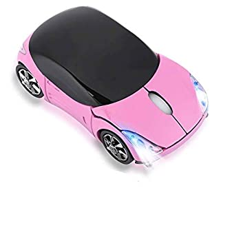 Car Mouse 2.4GHz Wireless Bluetooth Mouse Portable Optical Small Mouse 1600DPI for Mac Android ME Windows PC Tablet Gaming Office  Black