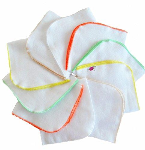 Babymajawelt® Molton Flanell Waschlappen, Kosmetiktücher 25x25-10er SUPER SOFT … (Unisex)