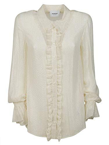 Dondup Luxury Fashion Damen DC078EF0107XXX00R Beige Viskose Hemd | Ss21