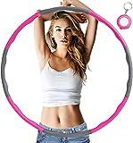 Mupack Hula Hoop - Pneumatico per adulti per riduzione del peso, con schiuma di circa 1,2 kg con mini metro a nastro, 6-8 segmenti rimovibili Hula Hoop per sport addominali