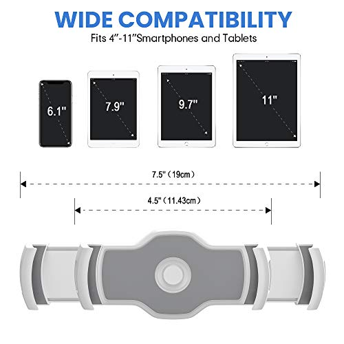 AboveTEK Stilvolle Aluminium Tablet Ständer, Handy Stand, Faltbare 360° Swivel Tischhalterung passt 4-11