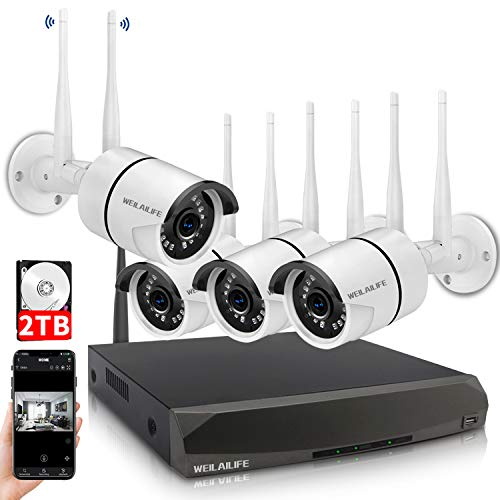 Security Camera System Wireless,8 Channel Home Outdoor Wir...