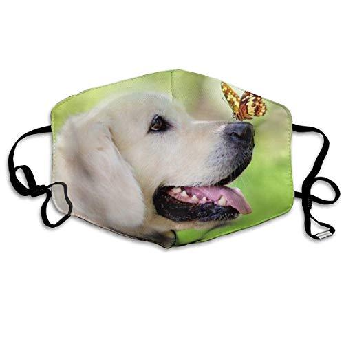 Staubdichte Maske, Hund mit Schmetterlingsmundmaske Wiederverwendbare Staubmaske für Männer Frauen