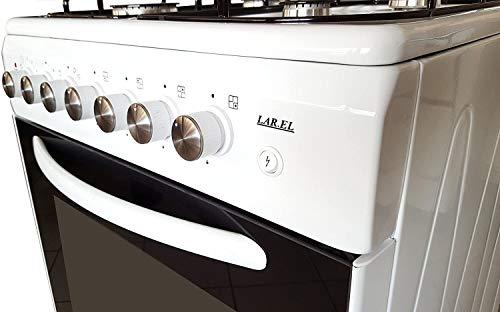 Cucina a gas 60x60 EVB forno elettrico 4 fuochi