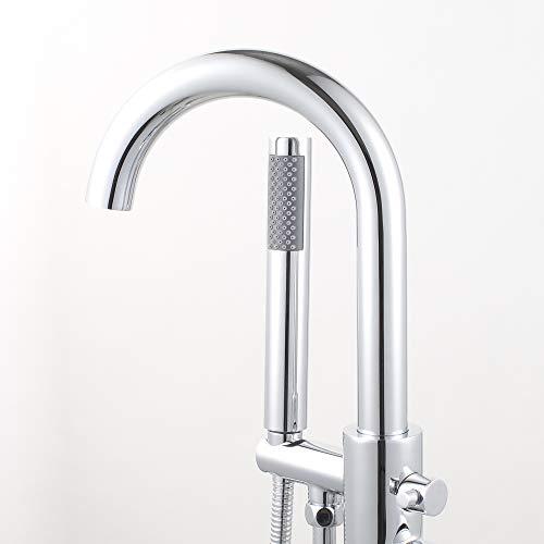 Woodbridge F-0002 Deluxe Freestanding Faucet, Chrome