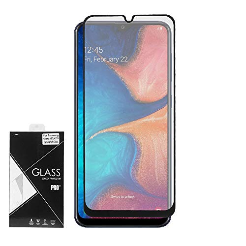 Z-GEN - Compatible with Samsung Galaxy A20 SM-A205 - Tempered Glass Screen Protector - Black Frame