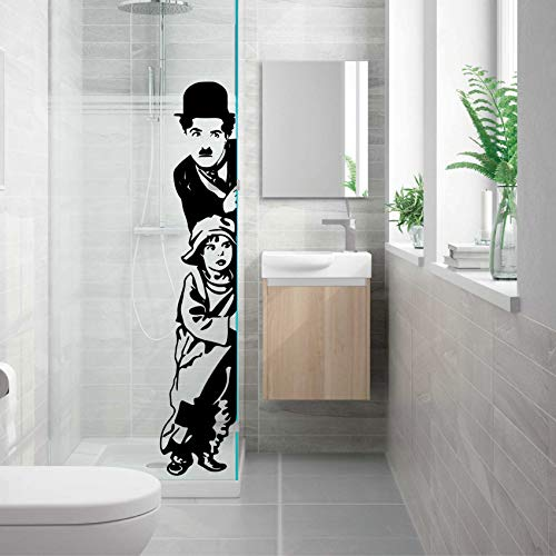 vinilo decorativo'Charles Chaplin, The Kid'. Color negro (L - 180x45, Negro)