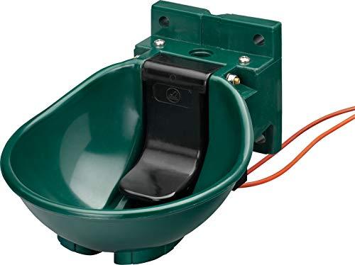 Lister Heizbares Tränkebecken SB 2 H Niederdruck mit Heizkabel 230 Volt / 33 Watt (Frostschutz bis ca. -20°C) - mit Niederdruck-Ventil - Tränke Kuh Kühe Rinder Pferd Pferde Stall