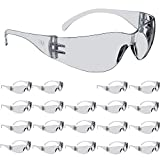 3M Safety Glasses, Virtua, ANSI Z87, 20 Pairs, Indoor/Outdoor Clear Hard Coat Lens, Clear Frame