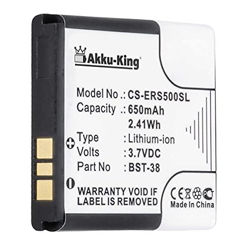 Akku kompatibel mit Sony-Ericsson K850i C902 K770i K850i S500i T303 T650i W580i W760i W902 W980 Z770i ersetzt BST-38 Li-Ion