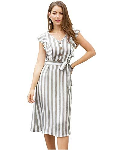 QUEEN ELLIE Women's A-Line Midi Dress