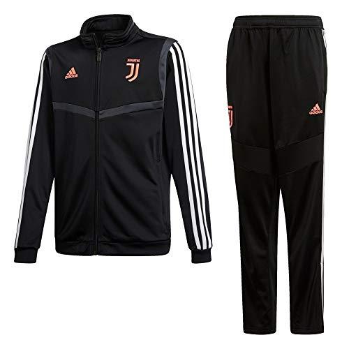 adidas 19/20 Juventus Polyester Youth, Suits Unisex Bambini, Black/Dark Grey, 1112