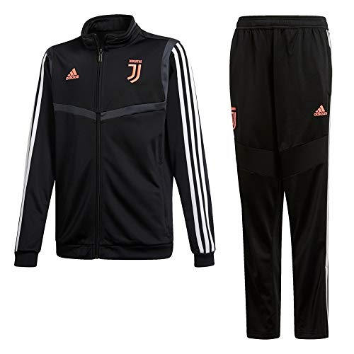adidas 19/20 Juventus Polyester Suit Youth Suits, Unisex Kinder XL schwarz/dunkelgrau