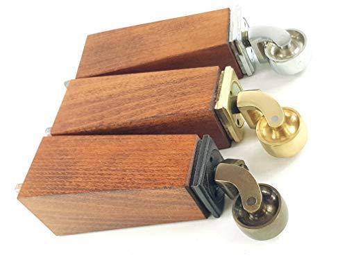 4 patas de madera maciza para muebles con reposiciones, asientos, sillas, sofás, reposapiés M8 (8 mm) RJB147