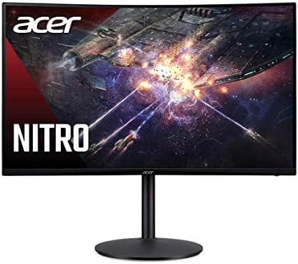 "Acer Nitro XZ342CK Pbmiiphx 34"" 1500R Curved WQHD (3440 x 1440) VA Gaming Monitor with AMD Radeon Freesync, VESA Certified DisplayHDR400, 95% sRGB, 144Hz, 1ms VRB (Display Port & 2 x HDMI 2.0 Ports)"