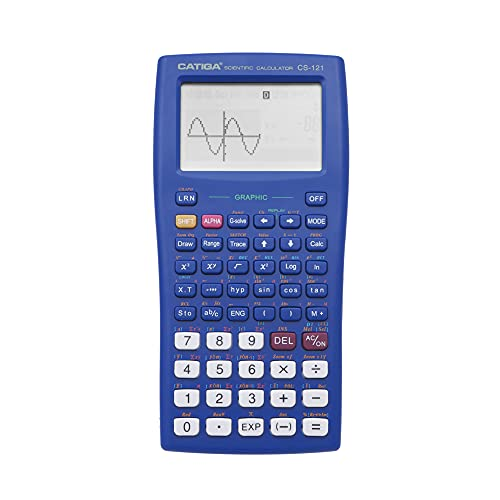 Scientific Graphic Calculator - CATIGA CS121 - Scientific and Engineering Calculator - Programmable System (Blue)
