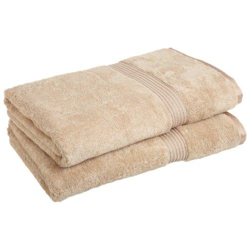 SUPERIOR 2-Piece Bath Sheet Set, Long-Staple Combed Cotton, Taupe