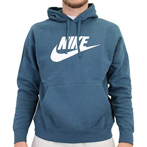 Nike Sudadera de forro polar con capucha para hombre, color verde oscuro Verde Oscuro Ash Green M