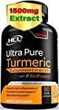 Turmeric Curcumin Supplement 19X Stronger -1500 mg of 95% Curcuminoids Extract Capsules - Pure Turmeric with BioPerine Ginger Cinnamon – Best Anti-Inflammatory Joint Support Antioxidant Powder Pills