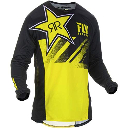 Fly Racing Mx Trikot 2019 Kinetic Rockstar Gelb-Schwarz (Medium, Schwarz)