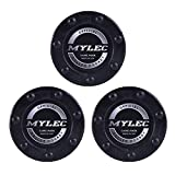 Mylec Official Roller Hockey Game Puck, Black, (Pack of 3)