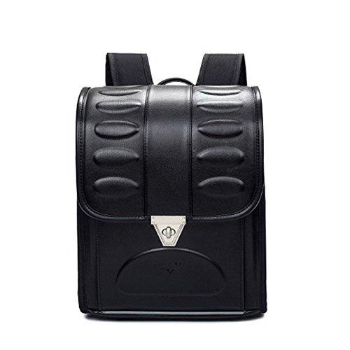Randoseru Satchel Bag A3 Clear File Fits School Bag with Rain Cover Japan Imported (Black)