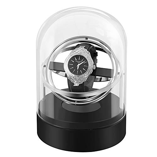 Dispositivo oscilante reloj mecánico dispositivo de reloj giratorio automático para el hogar caja de almacenamiento de reloj reloj individual swinger metal giratorio placer reloj mecánico caja de al