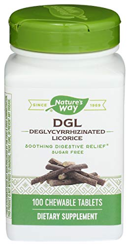 DGL-FF (No Sugar Or Fructose) Enzymatic Therapy Inc. 100 Chewable