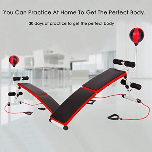 Prepare for your PlayStation 5,Game gym essentials, Ab Bench Decline Adjustable ,Incline Weight Bench Adjustable with A Pair of 1kg Dumbbells /Boxing ball