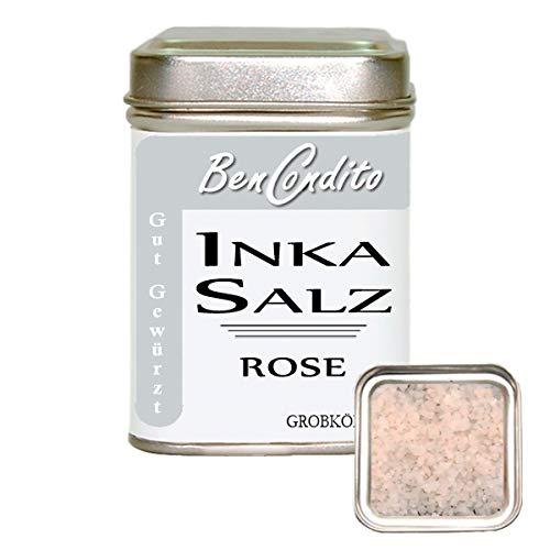 BenCondito - Inka Salz Rose (Sonnensalz ) - Rosa Salzflocken Aus Den Peruanisches Anden 160 gr. Dose