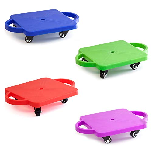 GSE Games & Sports Expert Gym Plastic Scooter Board with Handles (6 Colors Available) (Green)