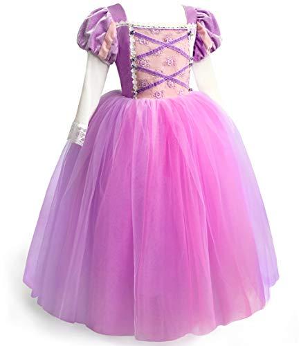 ToLaFio Princess Dresses for Girls Little Girls Costumes Dress Up Clothes for Little Girls