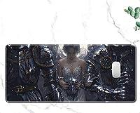 Zenghh スピードゲーミングマウスパッド、31.4x11.8in Wlopゴーストブレードゴーストブラック滑り止めラバーベースで耐性マウスサンダーマウスパッドのためにPCハイドロ用のブレード大かわいいサンディングパッド (Color : 13)