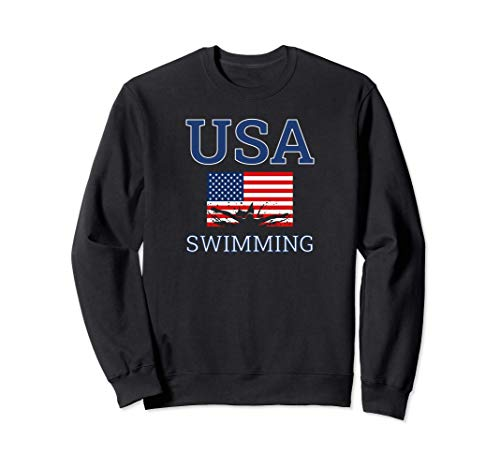 Butterfly Stroke American Swimmer Swimming Athlete USA Flag Sudadera