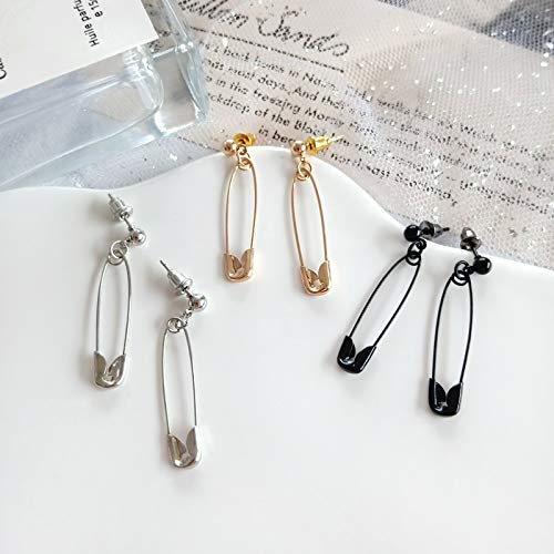 SMXGF Punk Originaliteit Personality Pin Alloy Prik Earring, populaire sieraden groothandel (Color : Gold)