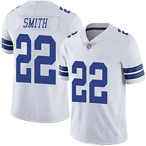 HANWAR Prescott4# Vander Esch55# Dallas Cowboys Rugby-Kleidung Besticktes Top-American-Football-Trikot-White22-XXXL