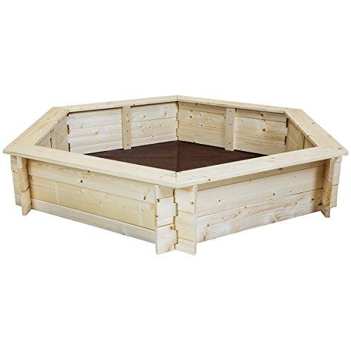 Charles Bentley niños niños Aire Libre Madera Hexagonal Arena Pit Box Area Juego