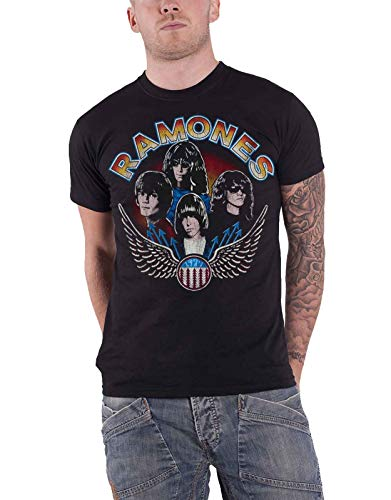 Ramones T Shirt Vintage Wings Band Logo Vintage Nue offiziell Herren