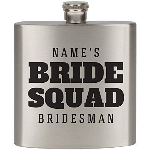 Custom Gift For Bridesman Flask: 7oz Stainless Steel Flask