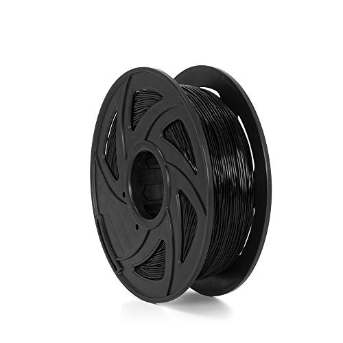 Tronxy Black Flexible TPU 3D Printing Filament, 1.75 mm, 2.2 LBS (1KG) , Dimensional Accuracy +/- 0.05 mm,Hardness 95A