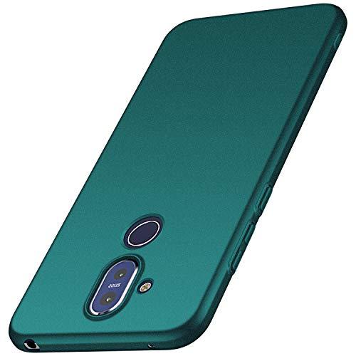anccer Cover Nokia 8.1, [Alta qualità] [Ultra Slim] Anti-Scratch Hard PC Case Custodia per Nokia 8.1 (Ghiaia Verde)