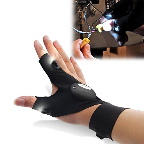 LED-Handschuh-Taschenlampe, Werkzeuge, Angeln, Radfahren, Sanitär, Wandern, Camping, 1 Stück, Männer, Frauen, Teens, Einheitsgröße für alle, XTRA HELL
