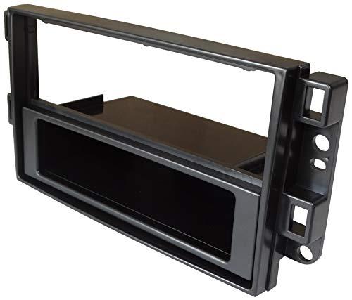 AERZETIX: Mascherina telaio adattatore 1 e 2DIN copertura in plastica stampata per il cambio sostituzione dell'autoradio originale con un radio standard per veicoli automobile