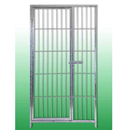 AZIMUTHBRICO Pannello con Porta in Acciaio con Zincatura Elettrolitica per Box per Cani 100 Cm x Altezza 180 Cm