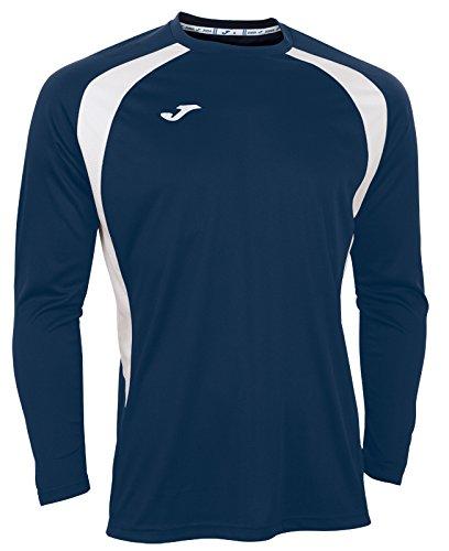Joma 100015.302 - Camiseta de equipación de Manga Larga para Hombre, Color Azul Marino/Blanco, Talla XL