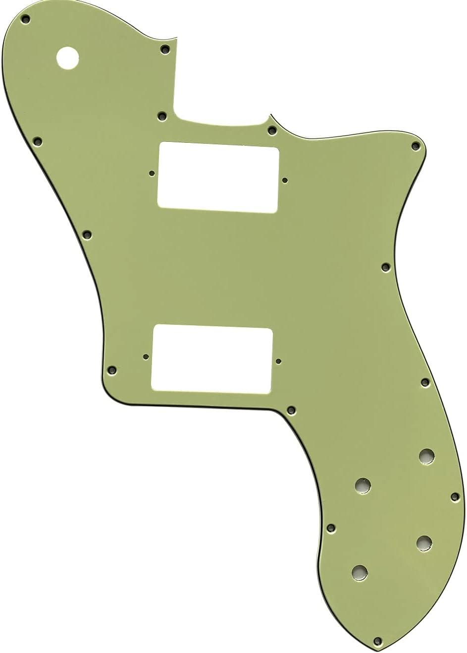 Piezas de guitarra para Fender US '72 Telecaster Standard Humbucker Golpeador de guitarra (3 capas, color verde vintage)