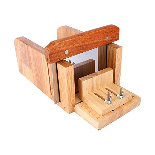 Zyyini Houten Zeep Loaf Cutter Mold and Soap Cutter Set met 1 st Rechte Cutter 1 st Golvende Cutter, Een tool die u uw eigen zeepvorm kunt ontwerpen