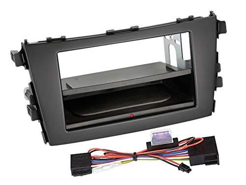 Kit Facade autoradio 2DIN pour Suzuki Celerio ap14 Avec vide poche Inbay Noir - ADNAuto