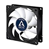 Arctic AFACO-080P2-GBA01 F8 PWM - 80 mm PWM Case Fan I Cooler with Standard Case | PWM-Signal Regulates Fan Speed | Push- or Pull Configuration Possible, Black/White